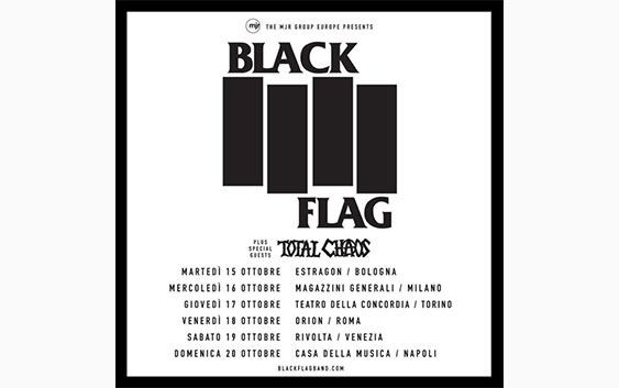 black flag tour 2019 italia