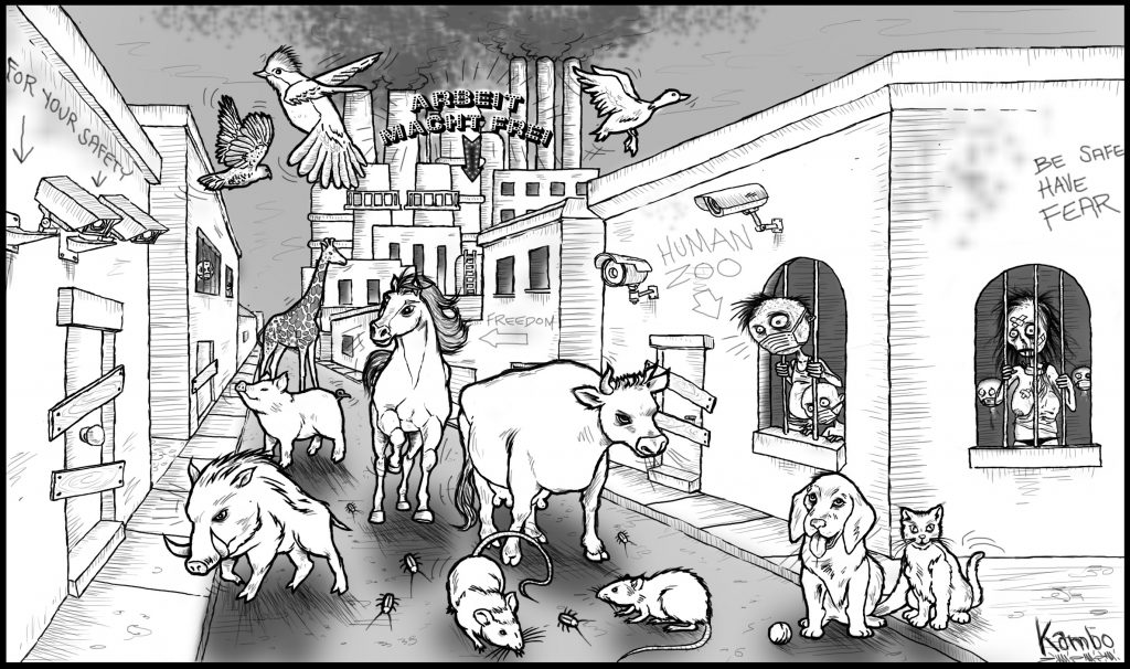 disegno artwork kambo animals humans quarantine